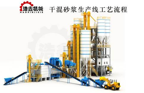 浩鑫干粉砂漿生產線的優勢特點