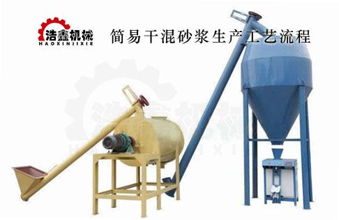 干混砂漿生產線工作原理