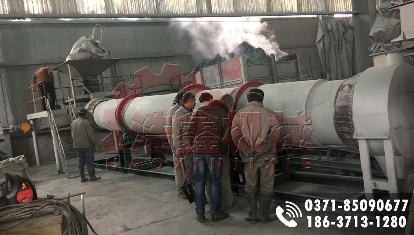 山東滕州800X8m碳化硅烘干機生產現場